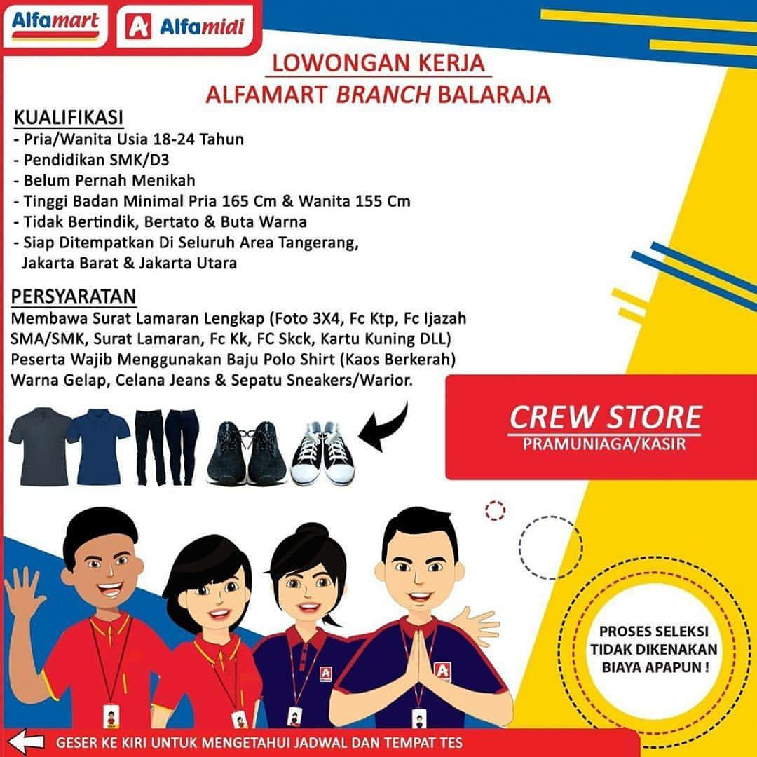 Lowongan Pekerjaan Alfamart Alfamidi Stie Bisnis Indonesia Petukangan